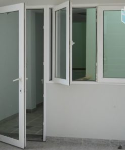 Cửa phòng 1 cánh hệ nhôm Việt Nhật