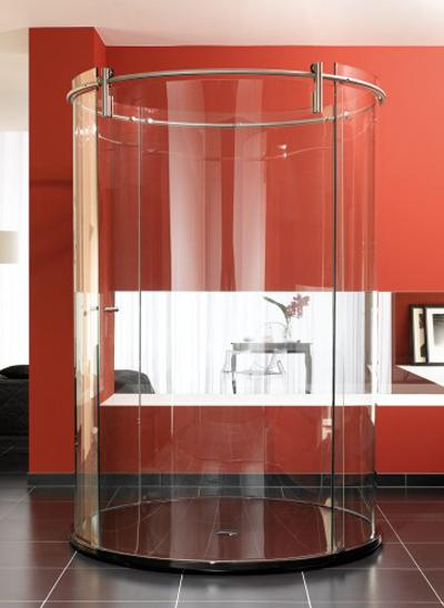 Phòng tắm đứng kính uống cong