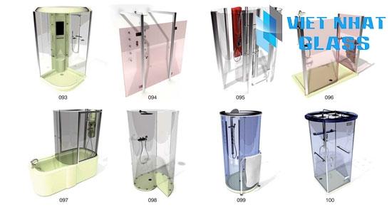 Các mẫu phòng tắm kính cường lực